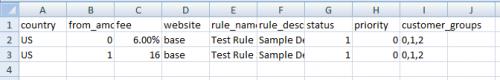 Import CSV format