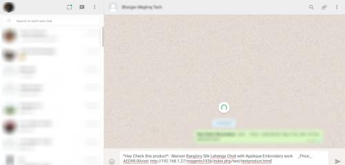 share in whatsapp web written message