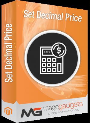 Set Decimal Price